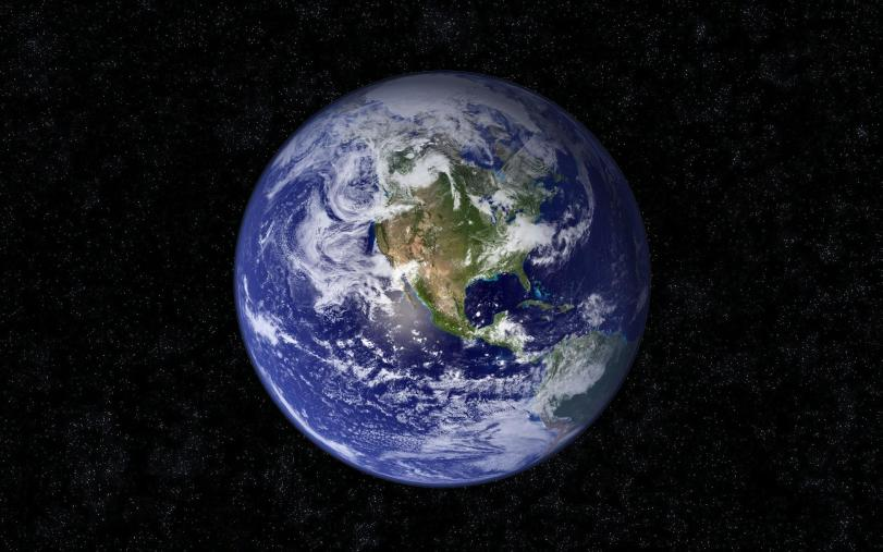 The big blue marble that is our home.